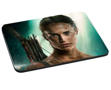 Lara Croft, Tomb Raider 2018, Mouse Mat Gift, Pad 220mm x 180mm, 5mm Thick