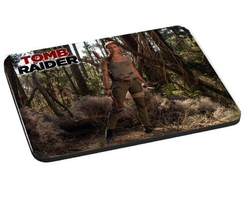 Lara Croft Tomb Raider 2018 Movie, Mouse Mat Gift, Pad 220mm x 180mm, 5mm Thick