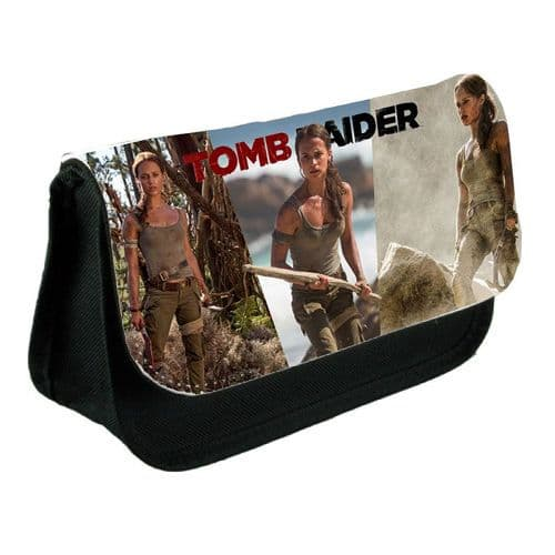 Lara Croft, Tomb Raider 2018, Pencil Case Or Make-Up Bag Black