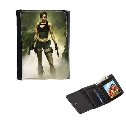 Lara Croft, Tomb Raider Themed, Mens, Ladies, Girls Wallet or Purse 12cm x 9cm