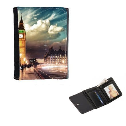 London, Big Ben Theme, Mens, Ladies, Girls Wallet or Purse 12cm x 9cm