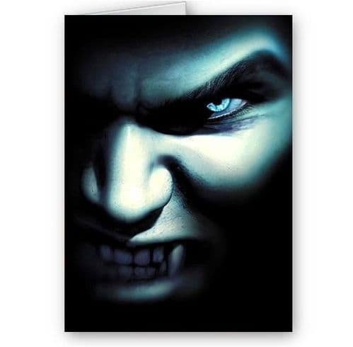 Male Vampire, Fantasy, Scary A5 All Occasions, Happy Birthday, Christmas Card