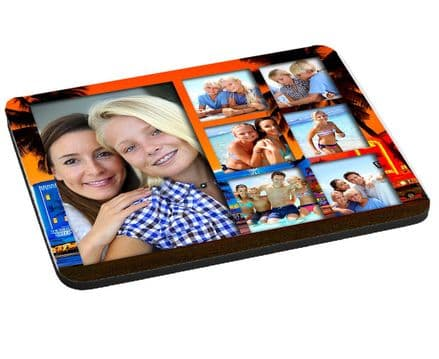 Miami South Beach 7 Photo Collage Mouse Mat, Pad 220mm x 180mm, 5mm Thick