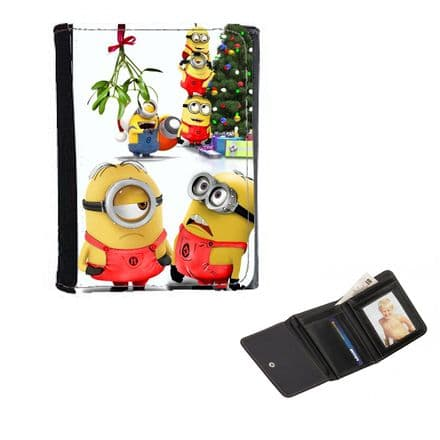 Minions Christmas Mens, Ladies, Girls Wallet or Purse 12cm x 9cm