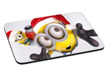 Minions Christmas Theme Mouse Mat, Pad, 220mm x 180mm, 5mm Thick