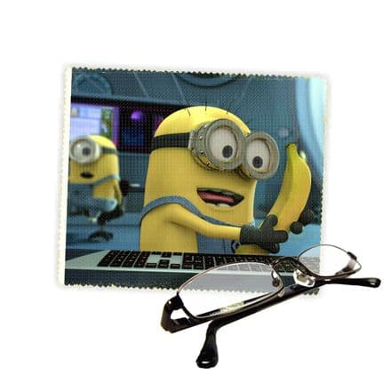 Minions Funny Banana Reading Glasses Lens Cleaning Cloth 18cm X 15cm