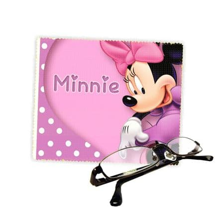 Minnie Mouse Reading Glasses Lens Cleaning Cloth 18cm X 15cm