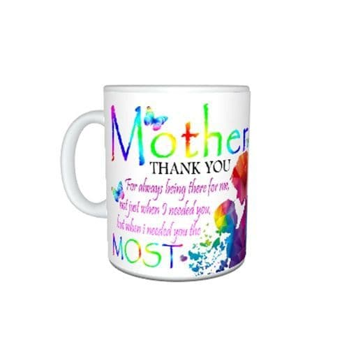 Mother, Thank you for being there, mum & daughter Gift Mug, Size 11oz