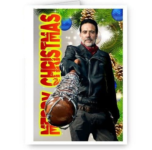 Negan & Lucille, Walking Dead, TWD, A5 Merry Christmas Card With Envelope