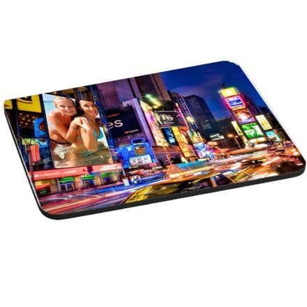 New York Sign, Display Personalised Photo Theme Mouse Mat, Pad 220mm x 180mm, 5mm Thick