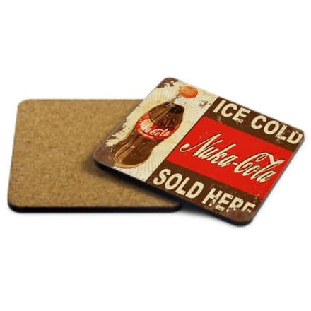 Nuka Cola Sold Here MDF Strong Coaster 9cm X 9cm