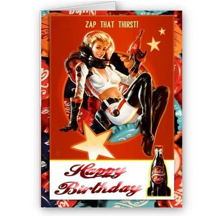 Nuka Girl A5 Happy Birthday Card With Envelope