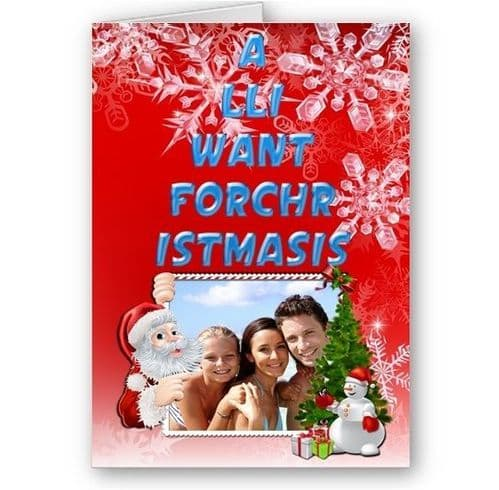 Personalied All I Want For Christmas Is Your Photo Added A5 Card