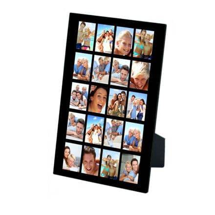 Personalised 20 Photos Collage Design Added MDF Photo Panel 5'' x 7'' with Easel