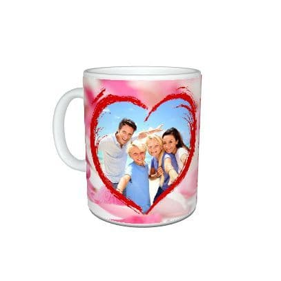 Personalised 5 Things I Love About You, Heart, Flower Theme 11oz Mug