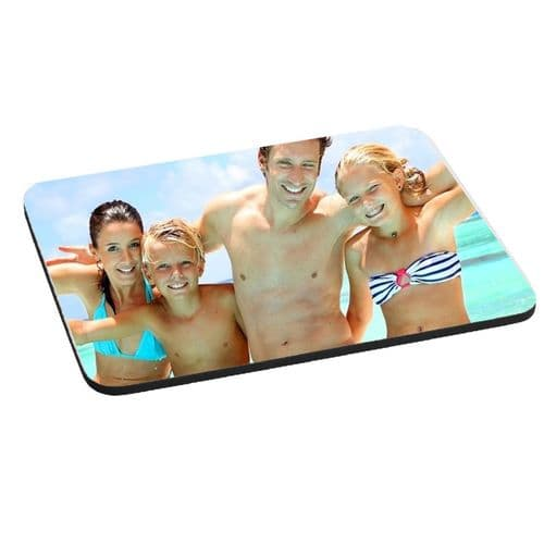 Personalised Any Photo, Design Added 5mm Thick Rectangle Mouse Mat/Pad 180mm X 220mm