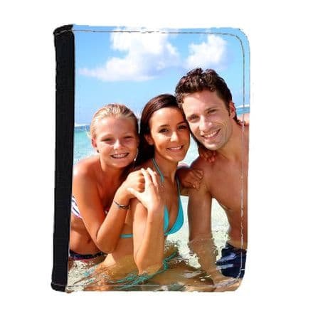 Personalised Any Photo, Design Added Passport Holder Wallet 100mm x 150mm