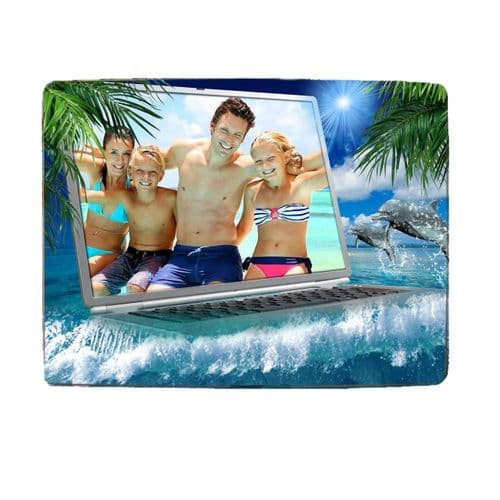 """Personalised Any Photo Dolphins 8"""" x 11"""" Toughened Glass Chopping Board, 4mm Thick"""