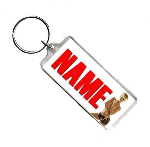 Personalised Name, Rihanna, Number Plate Style Rectangle Keyring