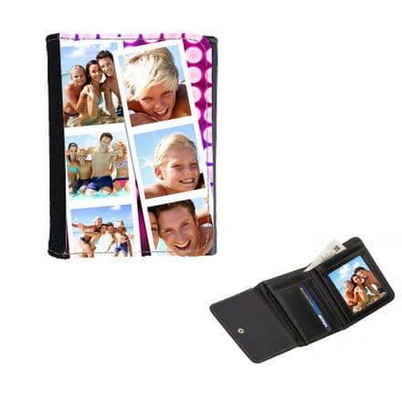 Personalised Photo Booth Theme Snap Shots Ladies, Girls Wallet or Purse 12cm x 9cm