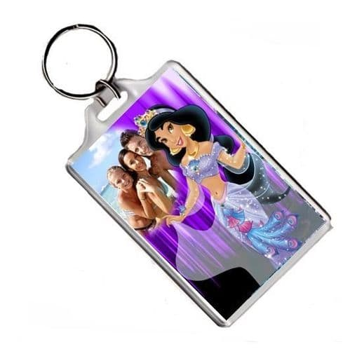 Personalised Photo Disney Princess Jasmine Keyring or Fridge Magnet