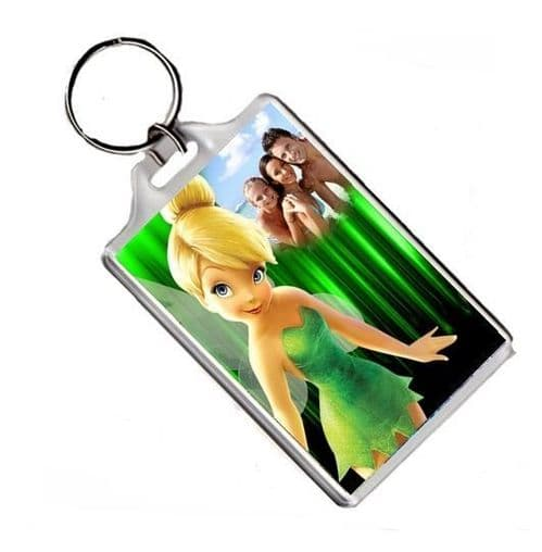 Personalised Photo Disney Tinkerbell Fairy Keyring or Fridge Magnet