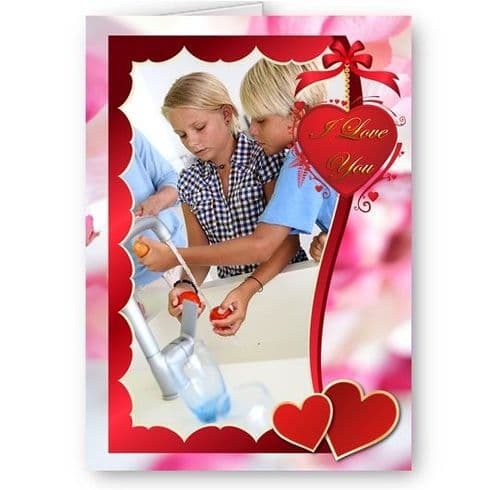 Personalised Photo I Love You, Valentines, Mothers, Birthday A5 Card