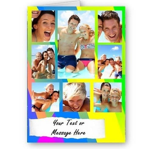 Personalised Photos & Message Collage All Occasions, A5 Multi Colour Card