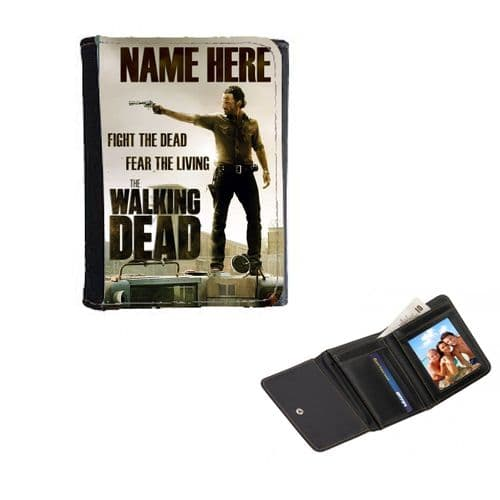 Personalised Rick Grimes, The Walking Dead, Mens, Ladies, Girls Wallet or Purse 12cm x 9cm