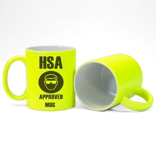 Personalised Text or Message 11oz Fluorescent Neon Yellow Mug
