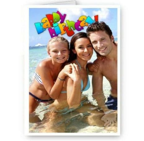 Personalised Your Photo Your Image Happy Birthday, A5 Birthday Any Occasion Card.