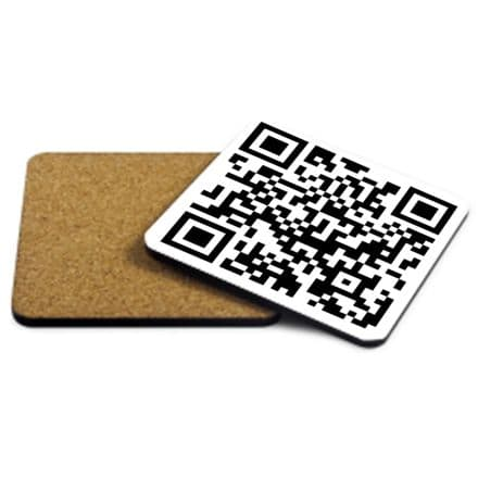 QR Code Personalised MDF Strong Coaster 9cm X 9cm