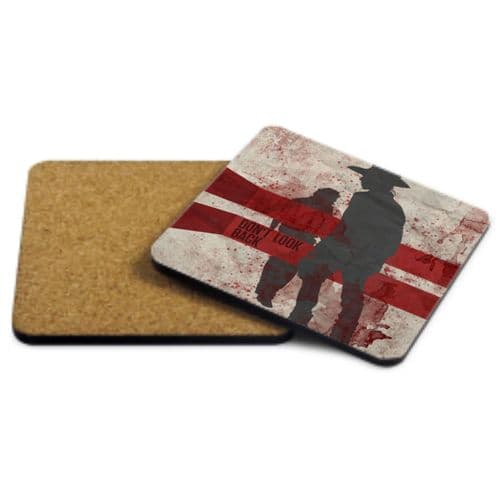 Rick & Carl, Don't Look Back, The Walking Dead MDF Strong Coaster 9cm X 9cm