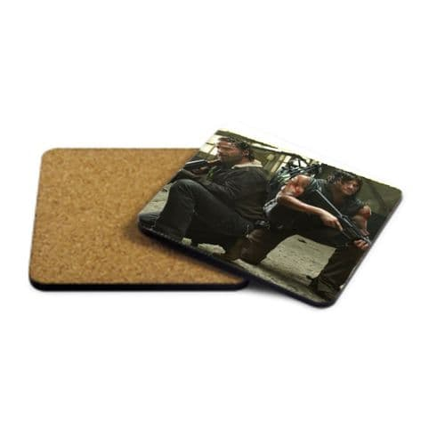Rick & Daryl, The Walking Dead MDF Strong Coaster 9cm X 9cm