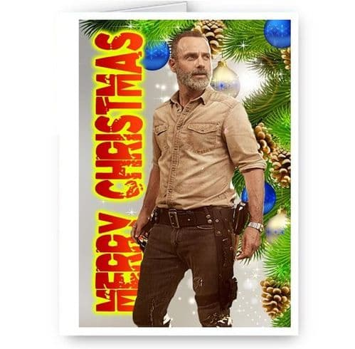 Rick Grimes, Walking Dead, TWD, A5 Merry Christmas Card With Envelope