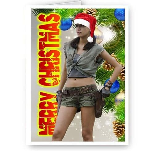 Rosita Espinosa, Walking Dead, TWD, A5 Merry Christmas Card With Envelope