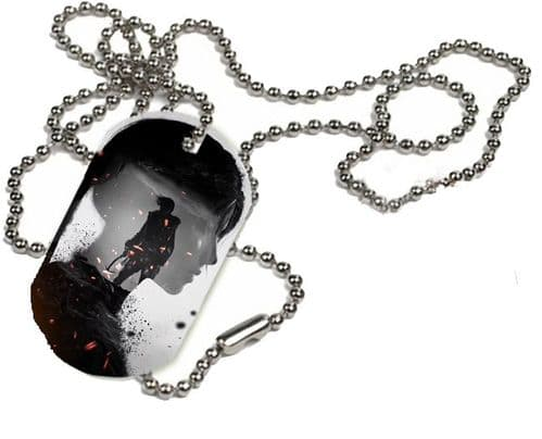 Shadow Of The Tomb Raider 2018 Lara Croft, 1 x ID Dog Tag With Bead Necklace