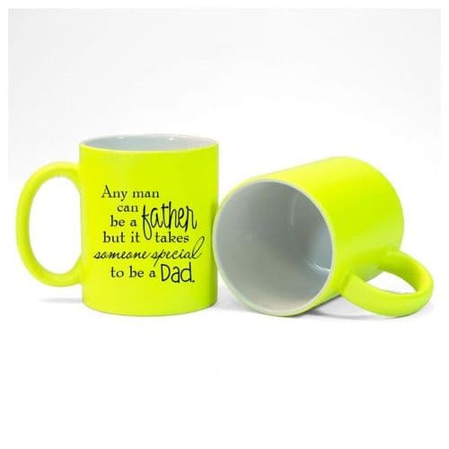 Someone Special, Fathers Day, Dad, Size 11oz, Fluorescent Yellow Mug Gift
