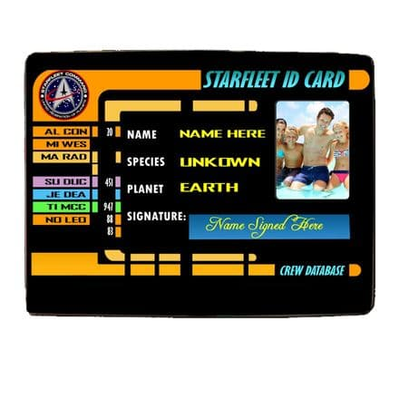 Star Trek ID Card With Any Photo 8