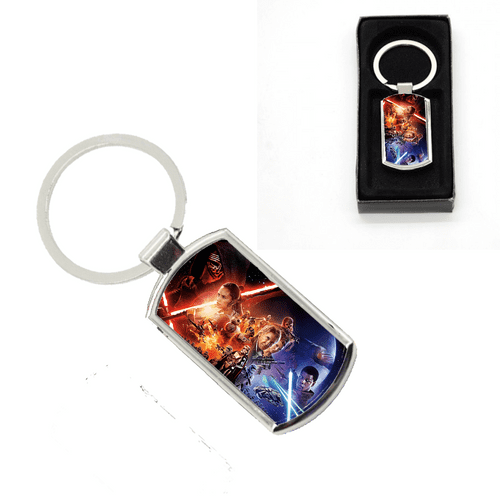 Star Wars Oblong Metal Keyring With Gift Box