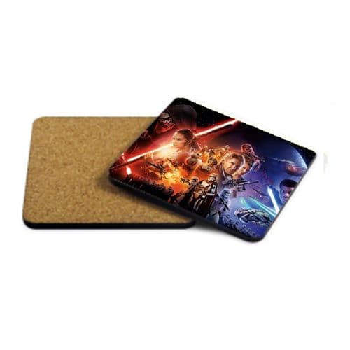 Star Wars The Force Awakens MDF Strong Coaster 9cm X 9cm