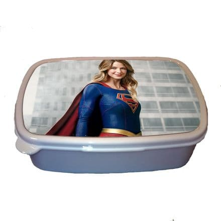 Supergirl, Melissa Benoist Children Plastic Sandwich Lunch Box