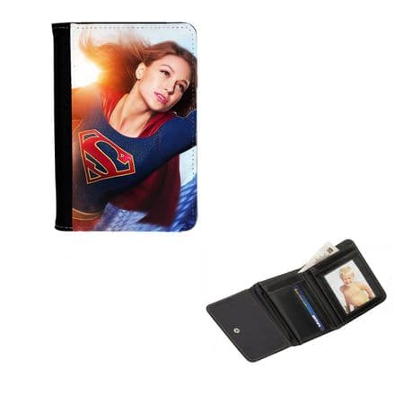Supergirl, Melissa Benoist, Mens, Ladies, Girls Wallet or Purse 12cm x 9cm