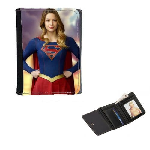 Supergirl, TV Series, Melissa Benoist, Mens, Ladies, Girls Wallet or Purse 12cm x 9cm
