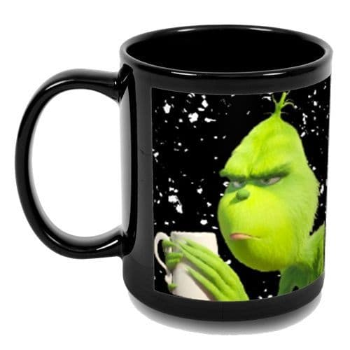 The Grinch Cup Of F**koffee 11oz Full Colour Black Mug New & Sealed