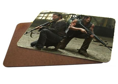 TWD The Walking Dead, Rick & Daryl MDF Strong Placemat 20cm x 28cm.