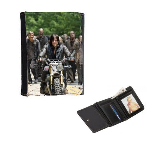 TWD, Walkng Dead, Daryl Dixon, Mens, Ladies, Girls Wallet or Purse 12cm x 9cm