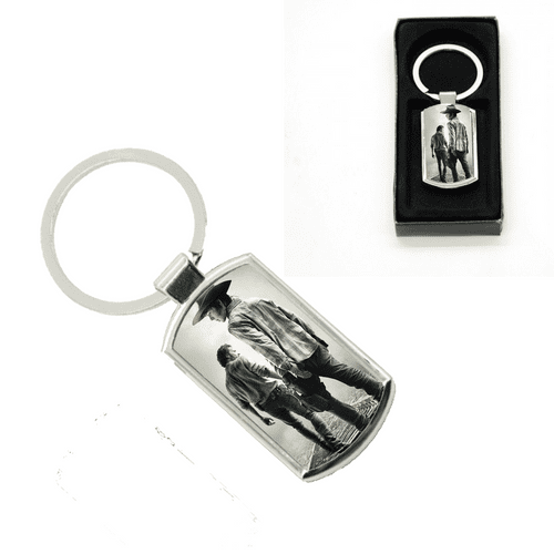 Walking Dead, Rick & Carl Oblong Metal Keyring With Gift Box