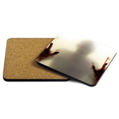 Zombie Apocalypse, Shadow, Walking Dead MDF Strong Coaster 9cm X 9cm