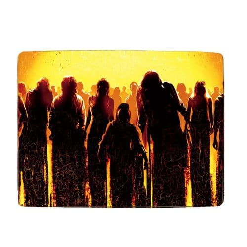 """Zombie Apocalypse Theme 8"""" x 11"""" Toughened Glass Chopping Board, 4mm Thick"""